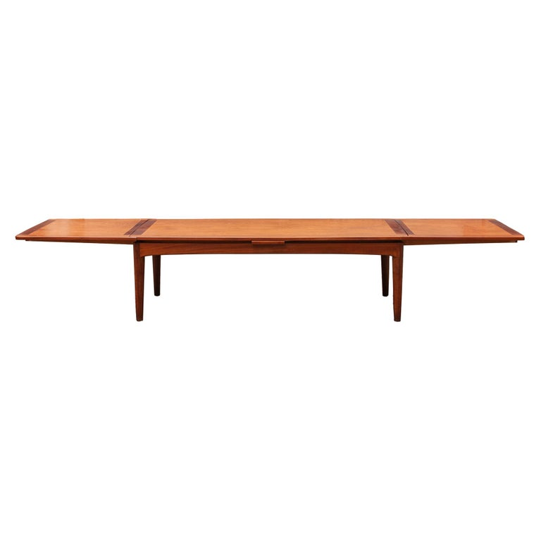 Large Solid Wood Extending Conference/ Dining Table, Belgium For Sale