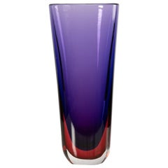 Large Sommerso Vase Flavio Poli for Seguso Vetri d´Arte