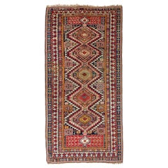 Large Sought-After Antique Shirvan Rug from 1880s