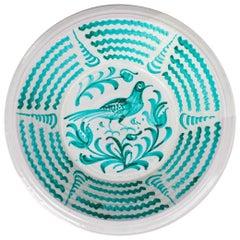 "Large Spanish Glazed Terracotta Granada ""Lebrillo"" Earthenware Bowl"