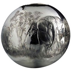 Large Sphere Silver