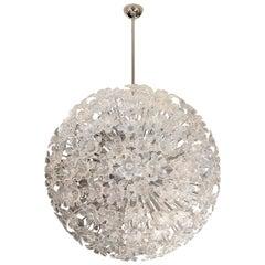Large Spherical Nickel Chandelier