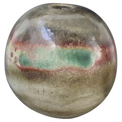 Large Spherical Stoneware Flower Vase by Ingeborg and Bruno Asshoff 'c. 1960s'
