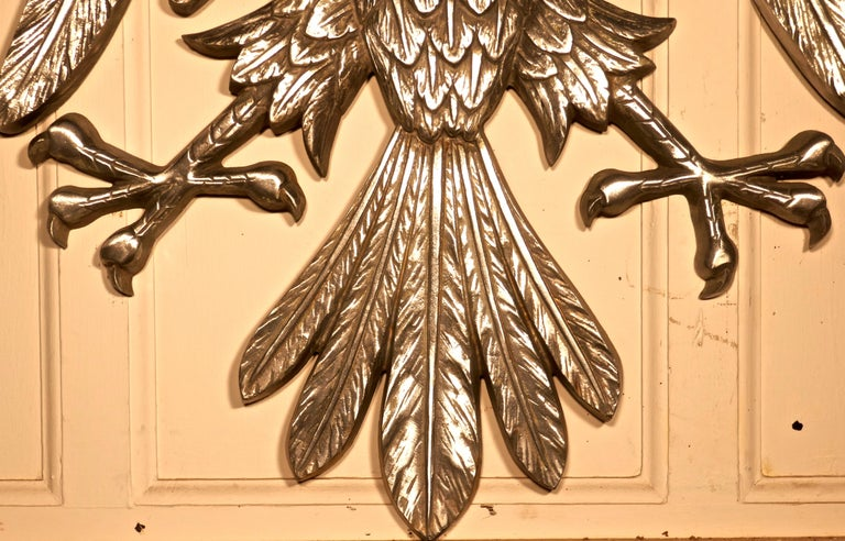 Large Spread Eagle Wall Plaque, Heraldic Trade Sign In Good Condition For Sale In Chillerton, Isle of Wight