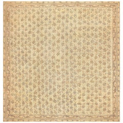 Large Square Antique Turkish Oushak Rug. Size: 14 ft 3 in x 14 ft 8 in