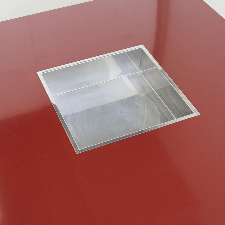 Modern Large Square Coffee Table by Willy Rizzo, 1972 For Sale