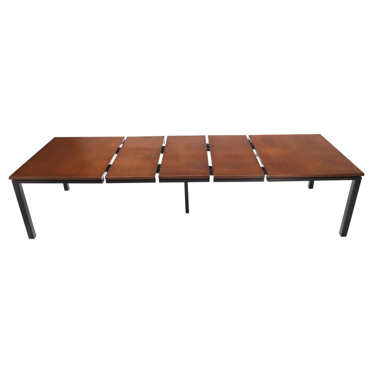 Large Square Expandable Dining Table 3 Extension Boards Atr Harvey Probber