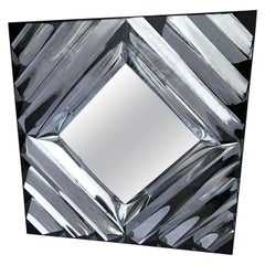 Large Square Mid-Century Modern Wall Mirror