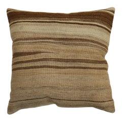 Large Square Modern Turkish Kilim Pillow
