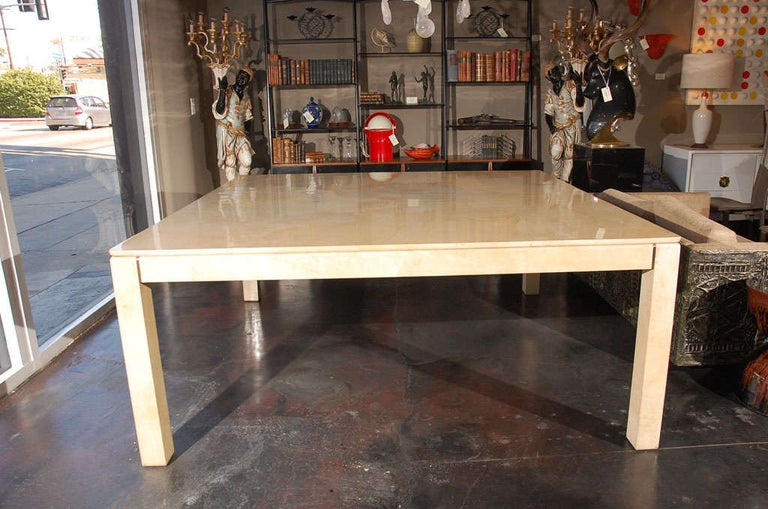 Other Large Square Parchment Table by Karl Springer For Sale