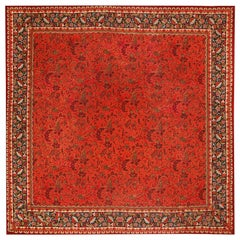 Large Square Size Antique Irish Donegal Rug. Size: 15 ft 5 in x 16 ft 8 in