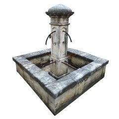 Large Square Surround Column Fountain