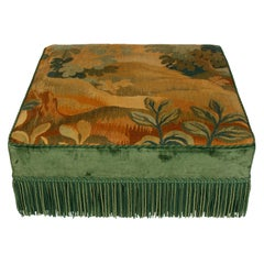 Large Square Tapestry Ottoman
