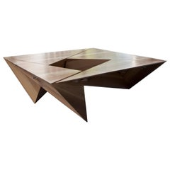 "Large Square ""Triangulated"" Coffee Table"