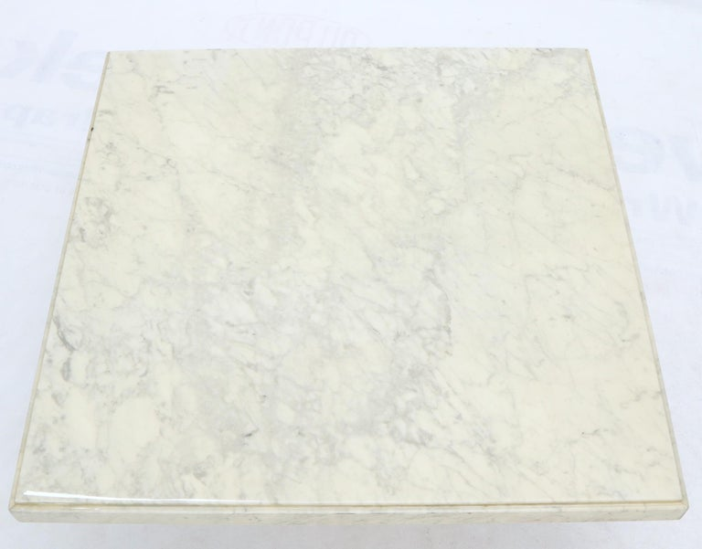 Large Square White Marble Coffee Table For Sale 1