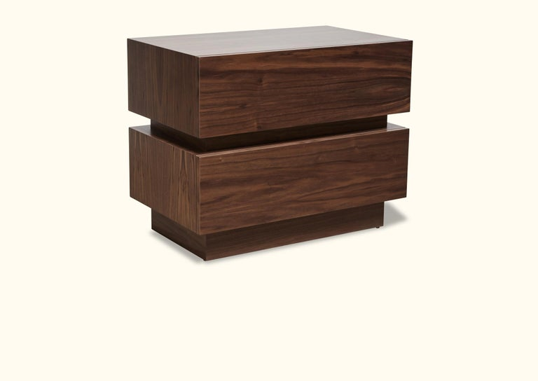 Mid-Century Modern Large Stacked Box Nightstand by Lawson-Fenning For Sale