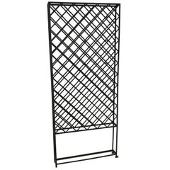 Large Standing Lattice Wrought Iron Wine Racks
