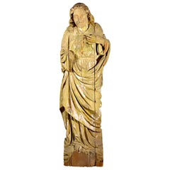 Large Statue Hand Carved in Wood