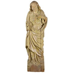 Large Statue of Saint Hand Carved in Wood