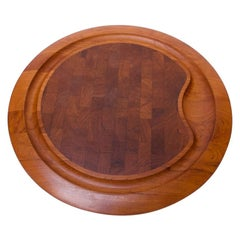Large Staved Teak Cutting Board / Tray by Jens Quistgaard for Dansk