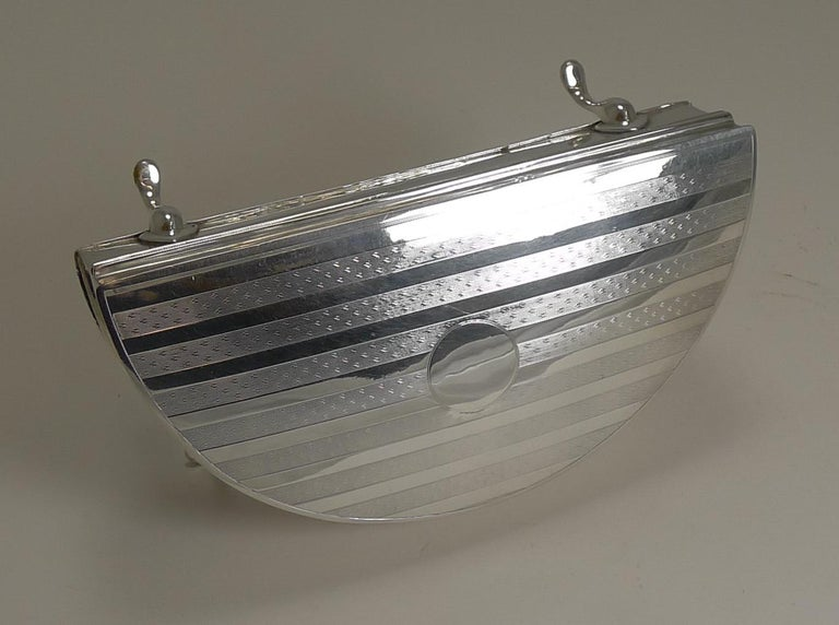 Early 20th Century Large Sterling Silver Jewelry Box by Charles S Green & Co. For Sale
