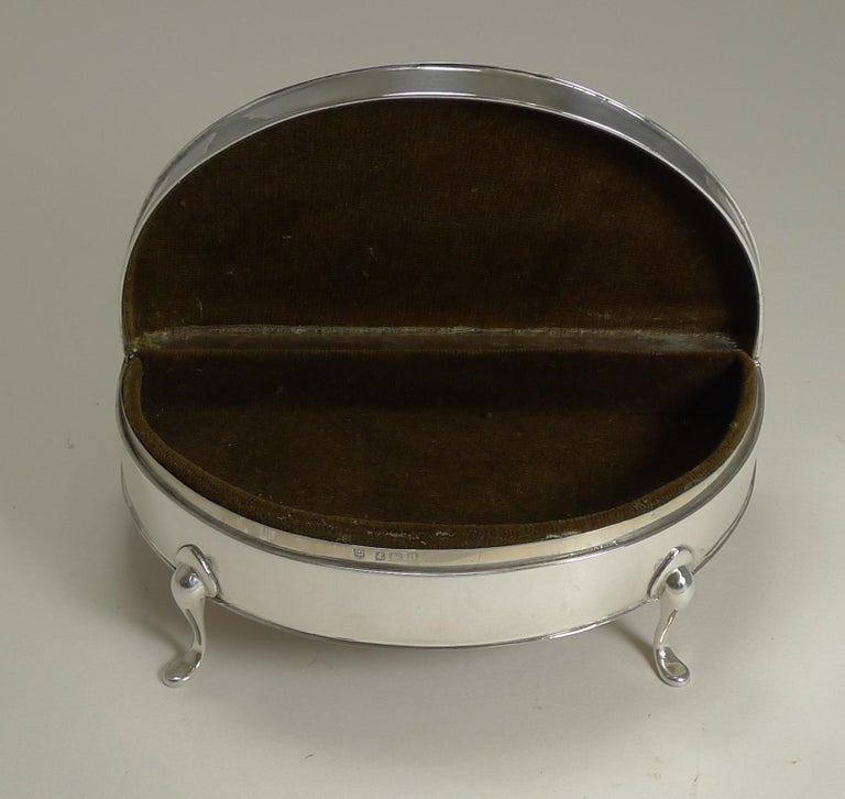 Large Sterling Silver Jewelry Box by Charles S Green & Co. For Sale 1