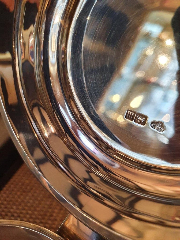 English Large Sterling silver tankard, by Goldsmiths & Silversmiths Co., 1907 For Sale