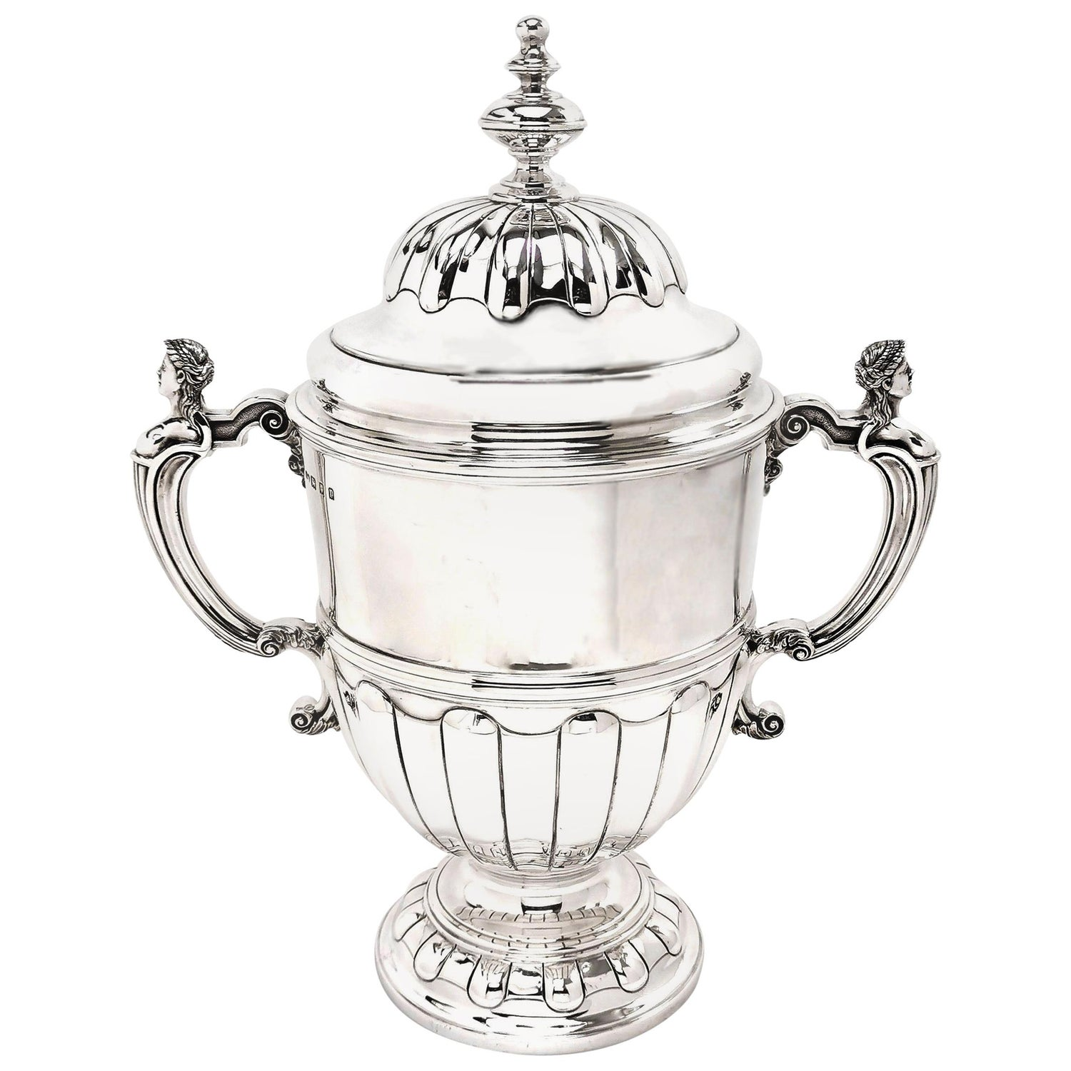 Large Sterling Silver Trophy Lidded Cup and Cover, 1930