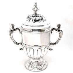Large Sterling Silver Trophy Lidded Cup & Cover 1930 (16 inches)
