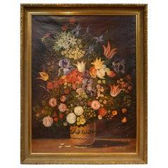 Large Still Life Oil Painting Signed J.J Parrech