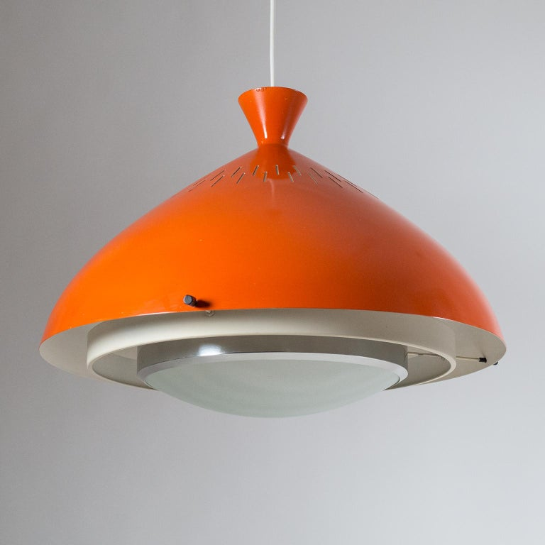 Large Stilnovo Pendant, 1950s In Good Condition For Sale In Vienna, AT