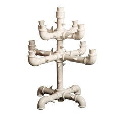 Large Sting Ceramic Candelabra by Roberto Cambi