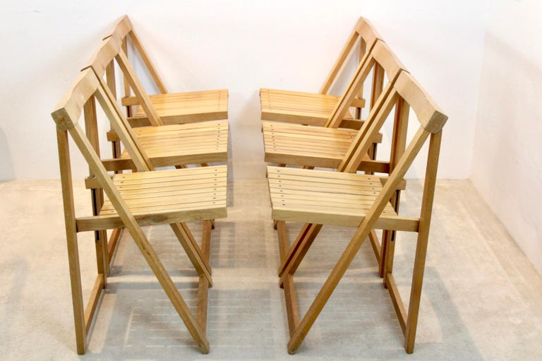 Large Stock of Aldo Jacober Folding Chairs for Alberto Bazzani For Sale 3