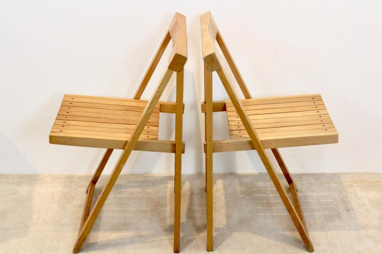Large Stock of Aldo Jacober Folding Chairs for Alberto Bazzani For Sale 4
