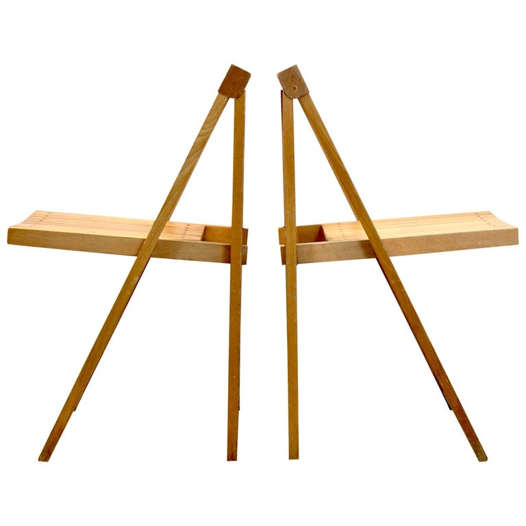 Large Stock of Aldo Jacober Folding Chairs for Alberto Bazzani For Sale
