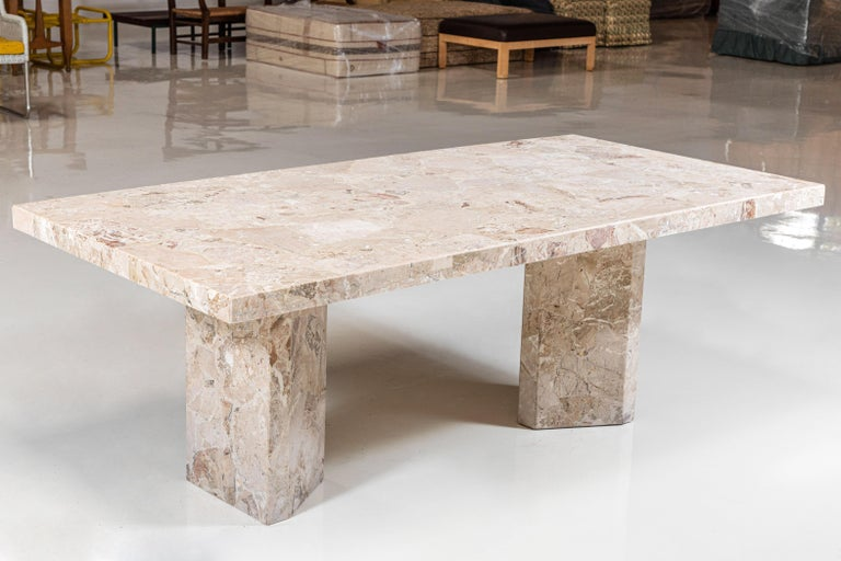 Large Stone Rectangular Dining Table In Good Condition For Sale In Los Angeles, CA