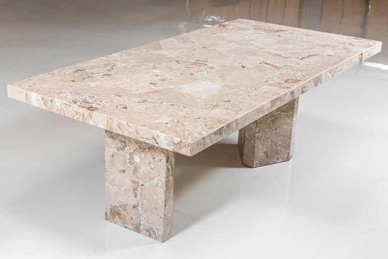 1970s Large Stone Rectangular Dining Table For Sale