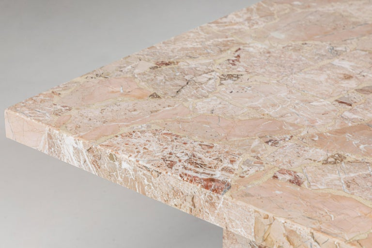 Large Stone Rectangular Dining Table For Sale 3