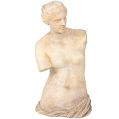 Large Stone Venus De Milo Statue, circa 20th Century