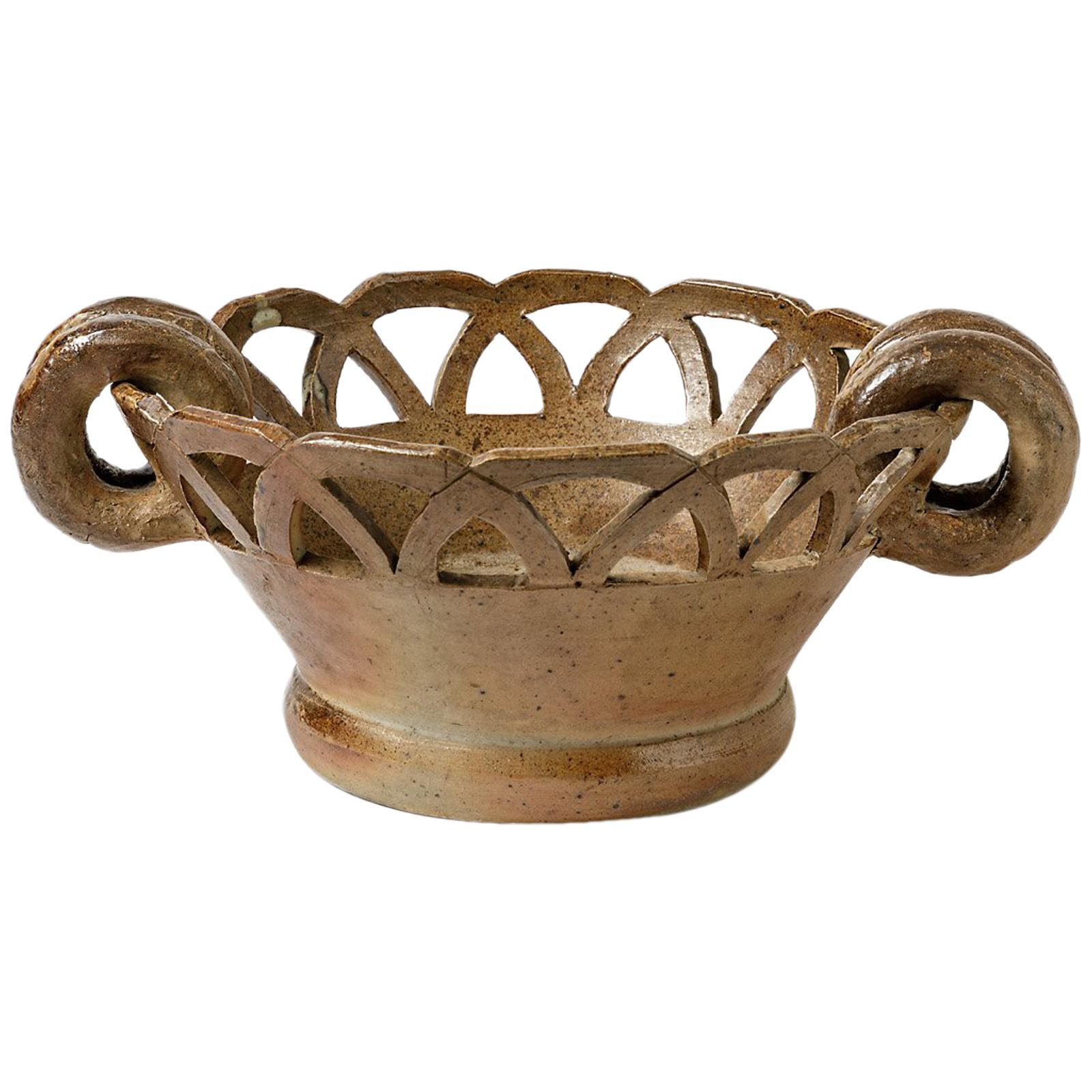 Large Stoneware Ceramic Cachepots or Jardiniere from La Borne, circa 1950