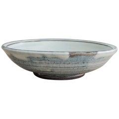 Large Stoneware Platter with Nuka Glaze by Mats Svensson