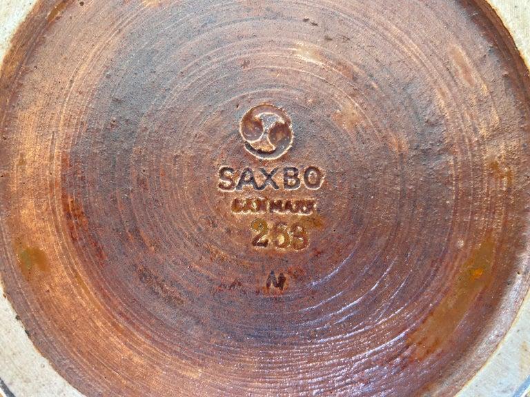 Danish Large Stoneware Vase by Saxbo For Sale