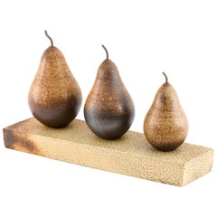 Large Studio Ceramic Pear Sculpture