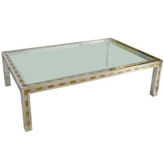 Large Studio Made Cityscape Style Parsons Coffee Table