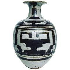 Large Studio Pottery Decorative Vase, 1977