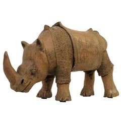 Large Studio Pottery Rhino