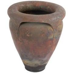 Large Studio Pottery Roku Fired Vase by Bob Sunday