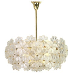 Large Stunning Crystal Glass Chandelier by Ernst Palme, Germany, 1970s