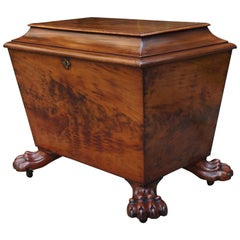 Large & Stunning Early 1800s Regency Sarcophagus Wine Cooler on Original Casters