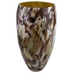 Large Stunning Multi-Colored Hand Blown Murano Art Glass Vase